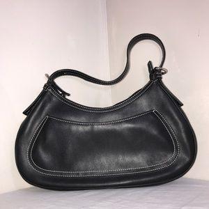 Nine West Black Contrast Stitch Sleek Shoulder Bag